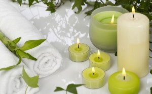 Scented aromatherapy candles